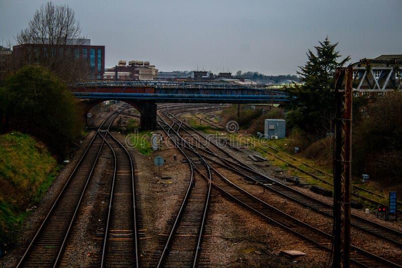 Os sistemas Railway do norte fotografia de stock