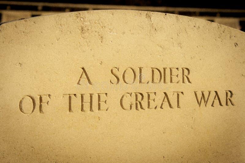 Os soldados do grande cemitério flanders Bélgica da guerra fotos de stock royalty free