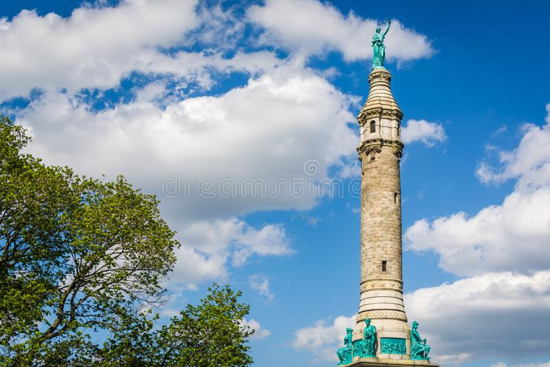 Os soldados & o monumento dos marinheiros na rocha do leste, New Haven, Connecticut imagens de stock