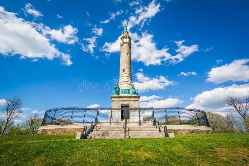 Os soldados & o monumento dos marinheiros na rocha do leste, New Haven, Connecticut imagens de stock royalty free
