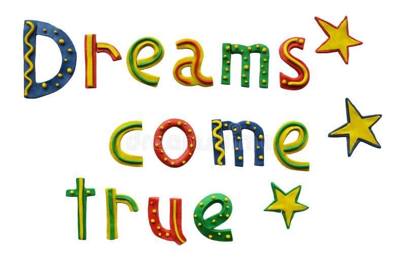Os sonhos vêm verdadeiro imagens de stock royalty free