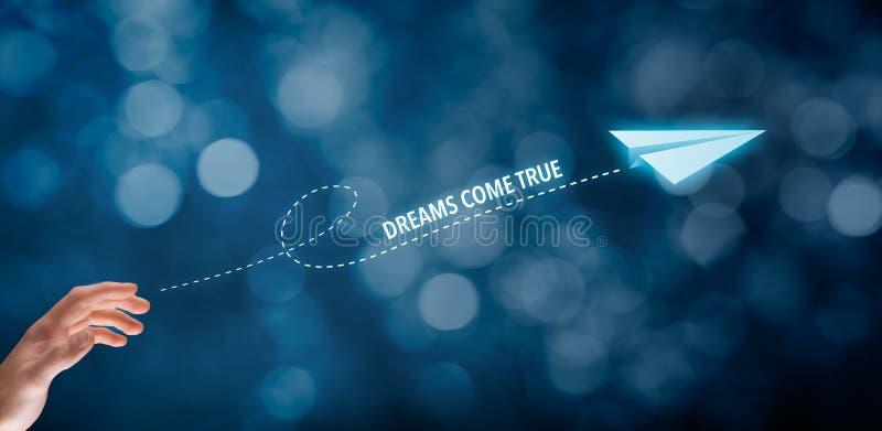 Os sonhos vêm verdadeiro imagens de stock