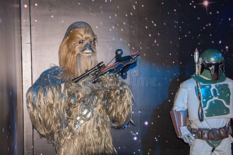 Os Star Wars team a figura de cera no museu da cera ilustração do vetor
