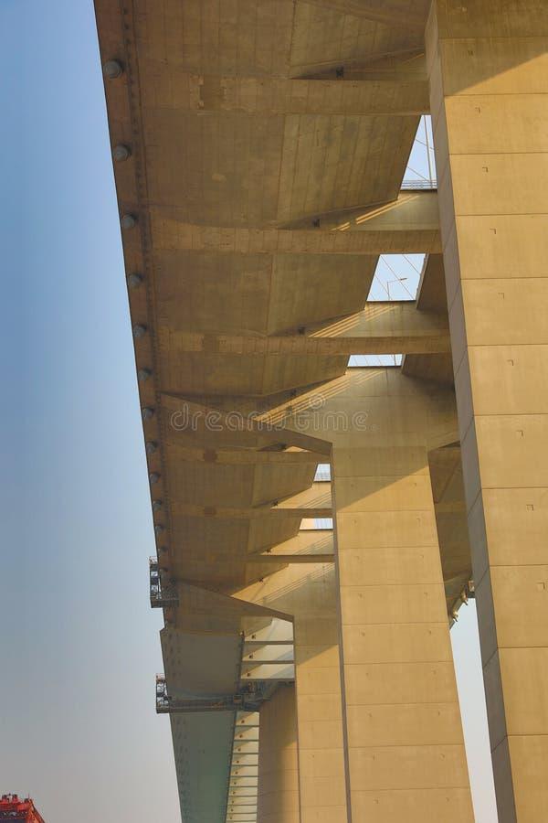 Os Stonecutters constroem uma ponte sobre em Tsing Yi fotos de stock