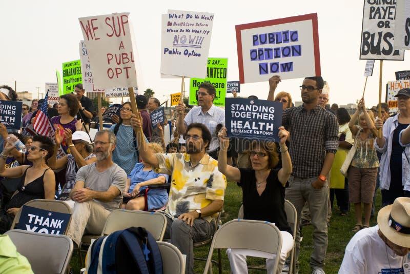 Os suportes dos cuidados médicos reagrupam em Los Angeles imagens de stock royalty free