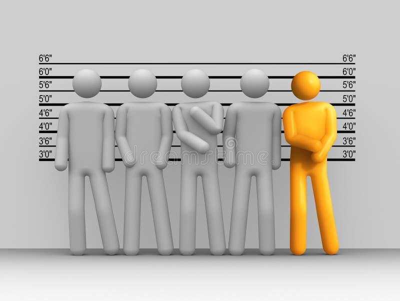 Os suspeitos usuais ilustração do vetor