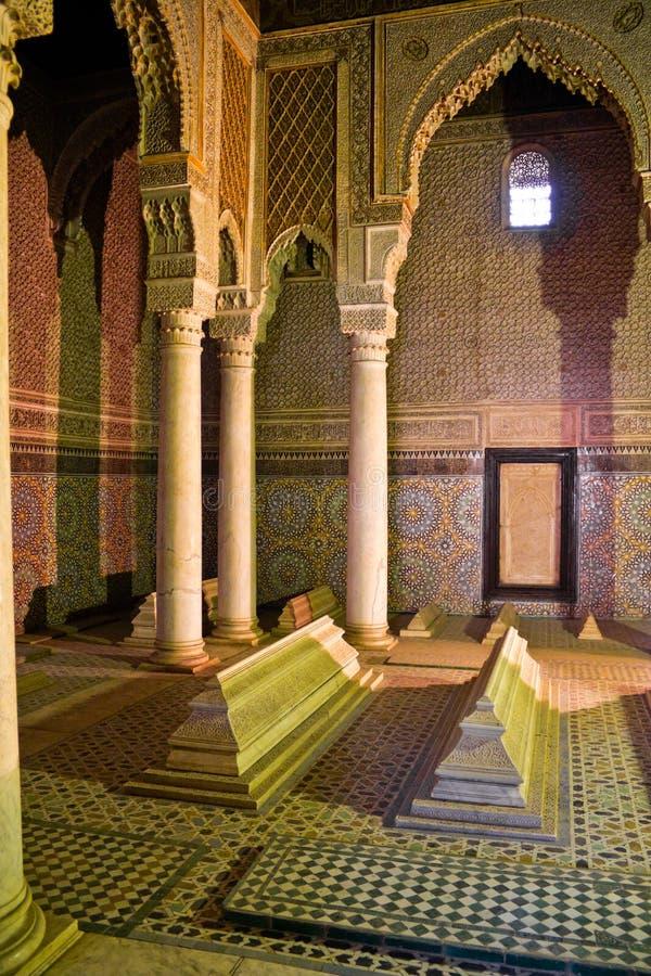 Os túmulos de Saadian em C4marraquexe fotografia de stock royalty free