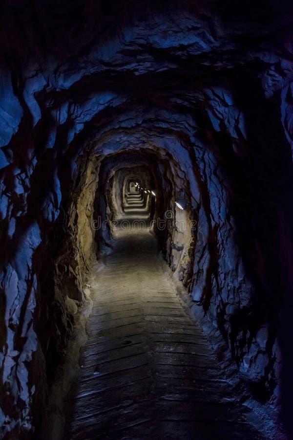Os túneis de Gibraltar imagem de stock