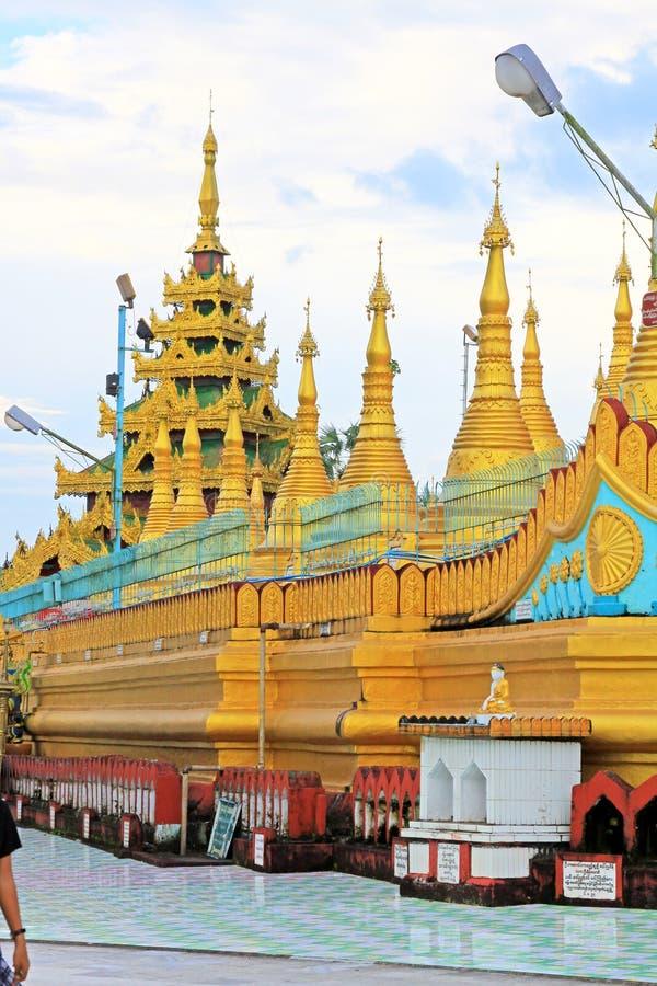 Os templos de bagan no nascer do sol, Bagan, Myanmar fotos de stock