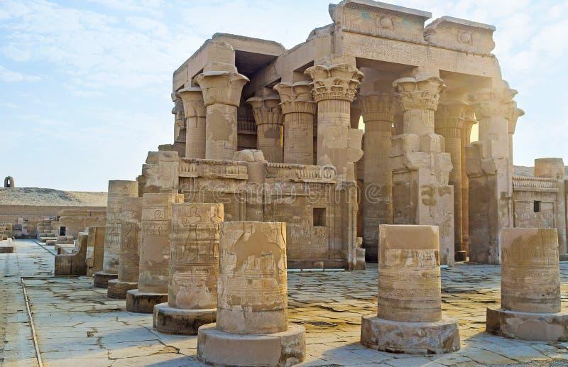 Os templos de Egito superior imagens de stock royalty free