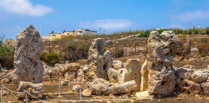 Os templos de Skorba permanecem imagem de stock
