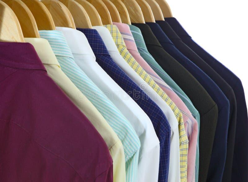 Os ternos e as camisas suportam fotografia de stock royalty free