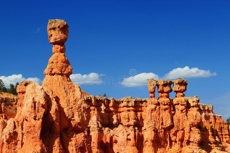 Os Thors martelam e templo de Osiris, Bryce Canyon National Park, Utá fotos de stock