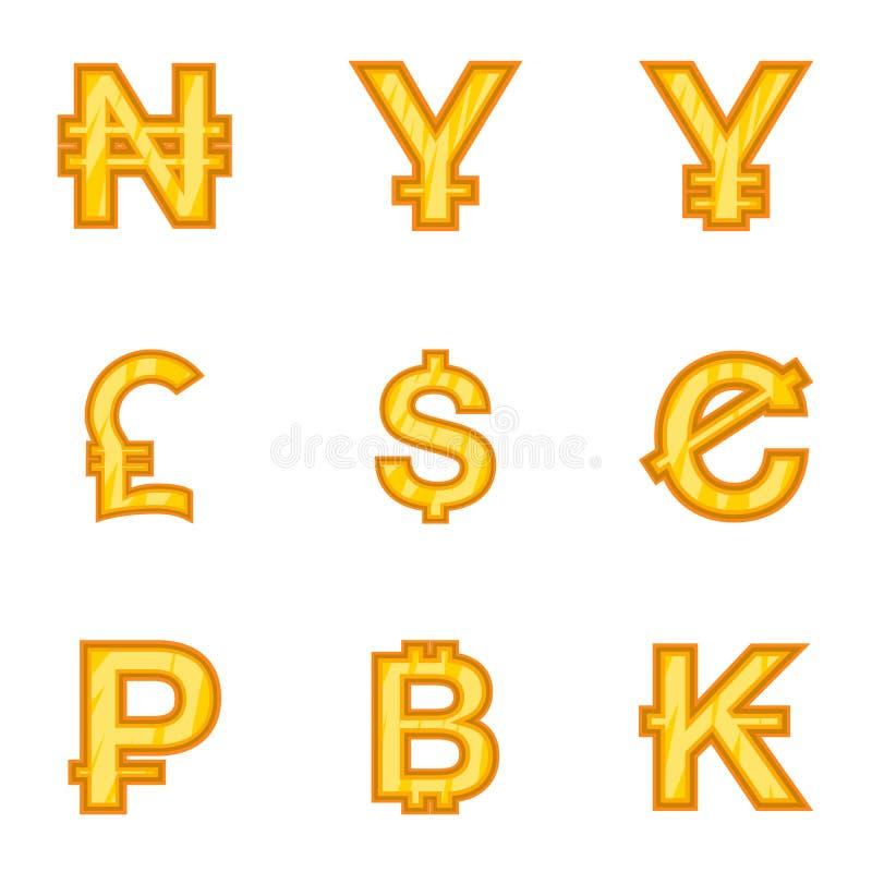 Download Os Tipos De ícones Do Dinheiro Ajustaram-se, Estilo Dos Desenhos Animados Ilustração do Vetor - Ilustração de econômico, ilustração: 80101158
