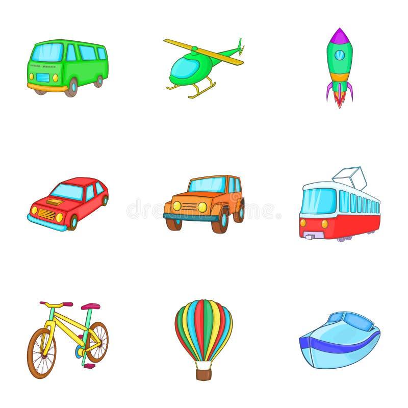 Download Os Tipos De ícones Do Transporte Ajustaram-se, Estilo Dos Desenhos Animados Ilustração do Vetor - Ilustração de logistic, gráfico: 80101070