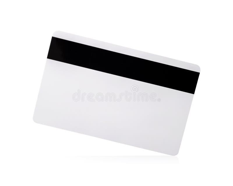 Os trajetos de grampeamento lascam o cart?o isolado no fundo branco Molde do cart?o de cr?dito vazio para seu projeto ilustração stock