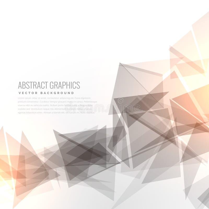 Os triângulos geométricos cinzentos abstratos dão forma com efeito da luz ilustração do vetor