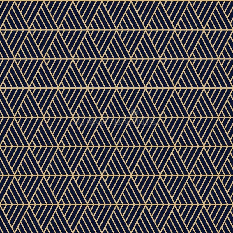 Os triângulos sem emenda do vetor modelam maori, étnico, estilo de japão Textura moderna do estilo ilustração stock