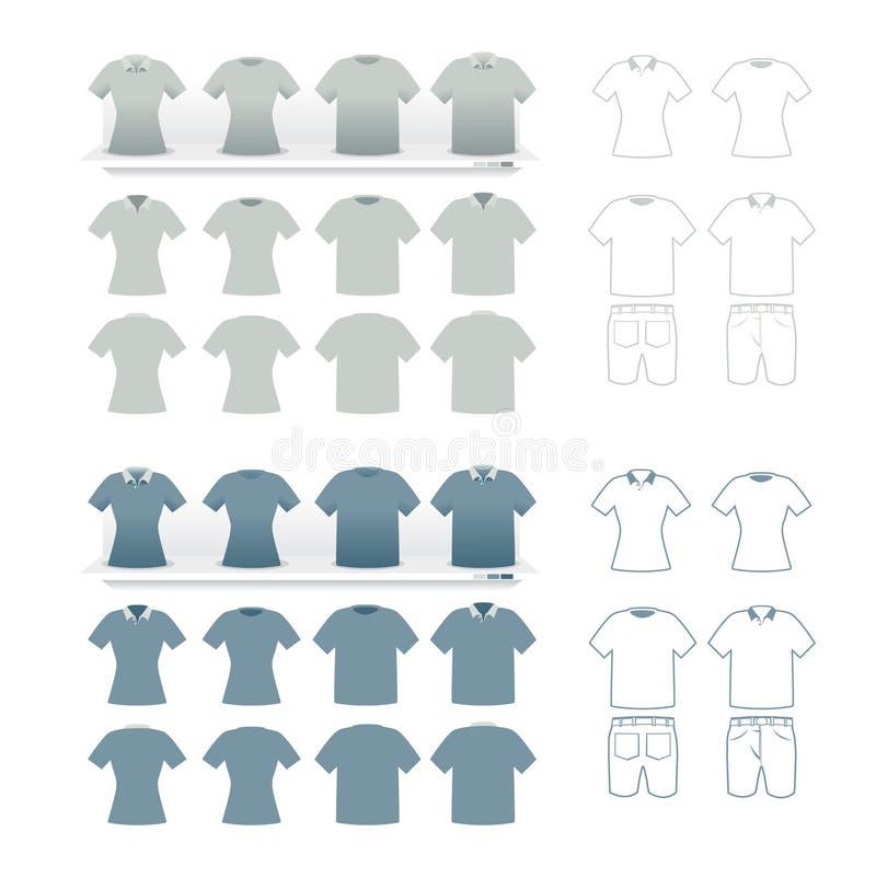 Os Tshirts formam o grupo   ilustração royalty free