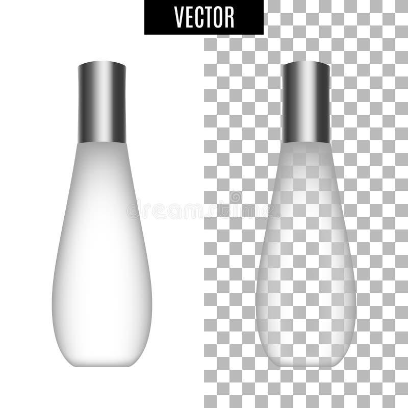 os tubos vazios do ícone cosmético realístico branco do pacote 3d no fundo transparente vector a ilustração Branco realístico ilustração do vetor