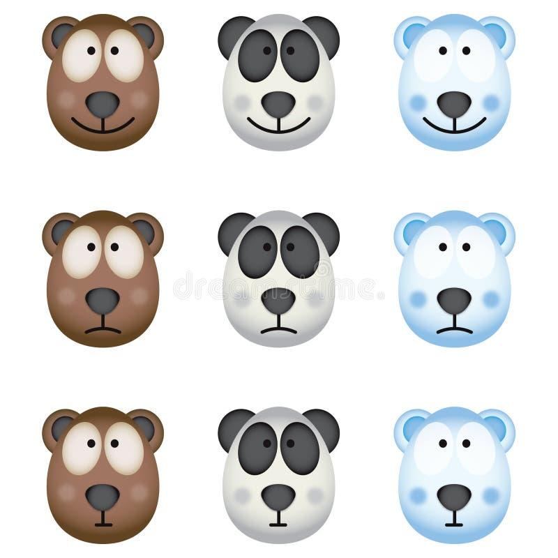Os ursos ilustração royalty free