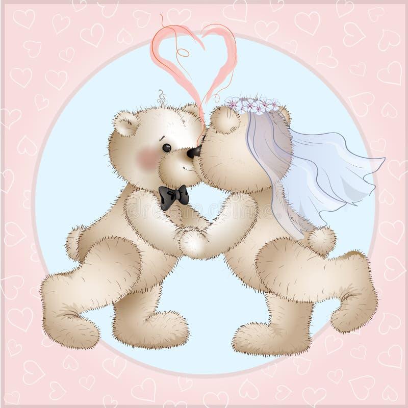 Os ursos do casamento têm ilustração stock