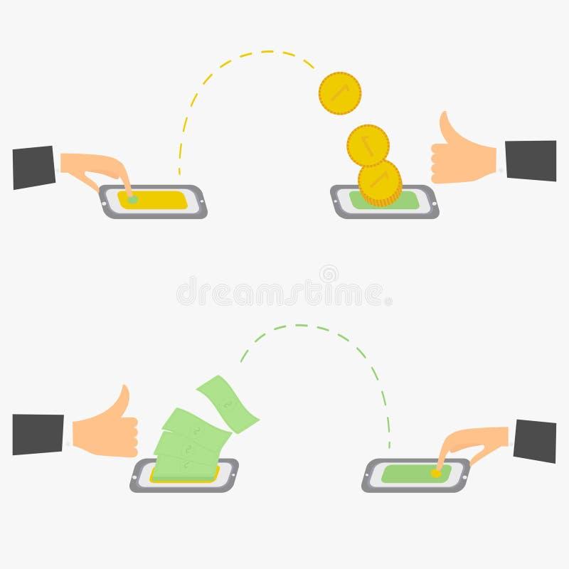 Os usuários enviam e recebem ilustração royalty free