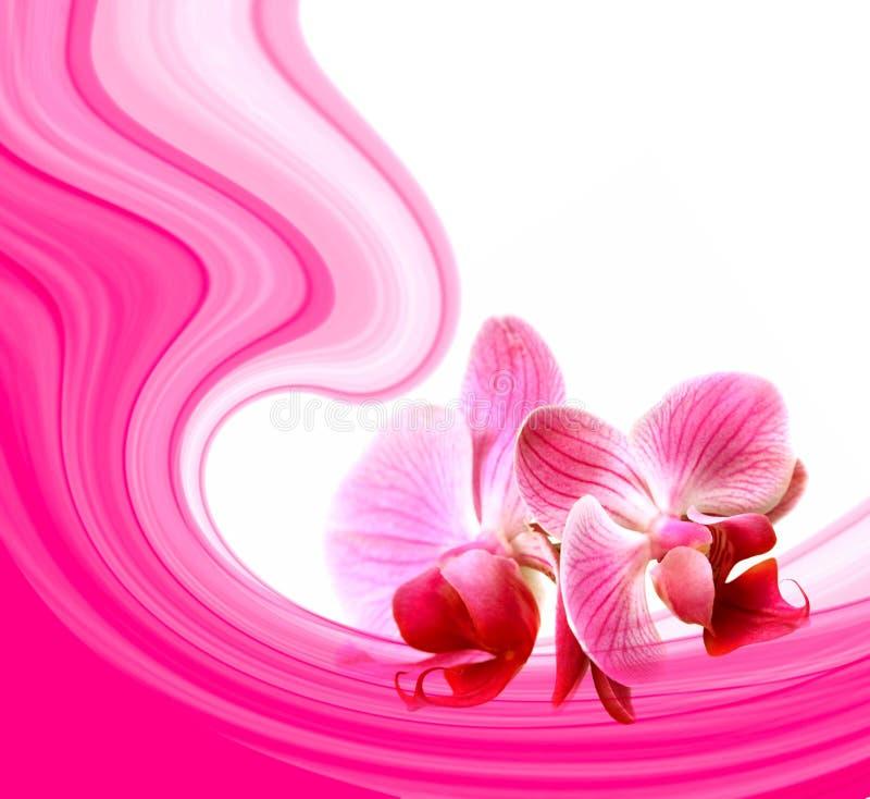 Os Valentim abstraem com flores ilustração royalty free