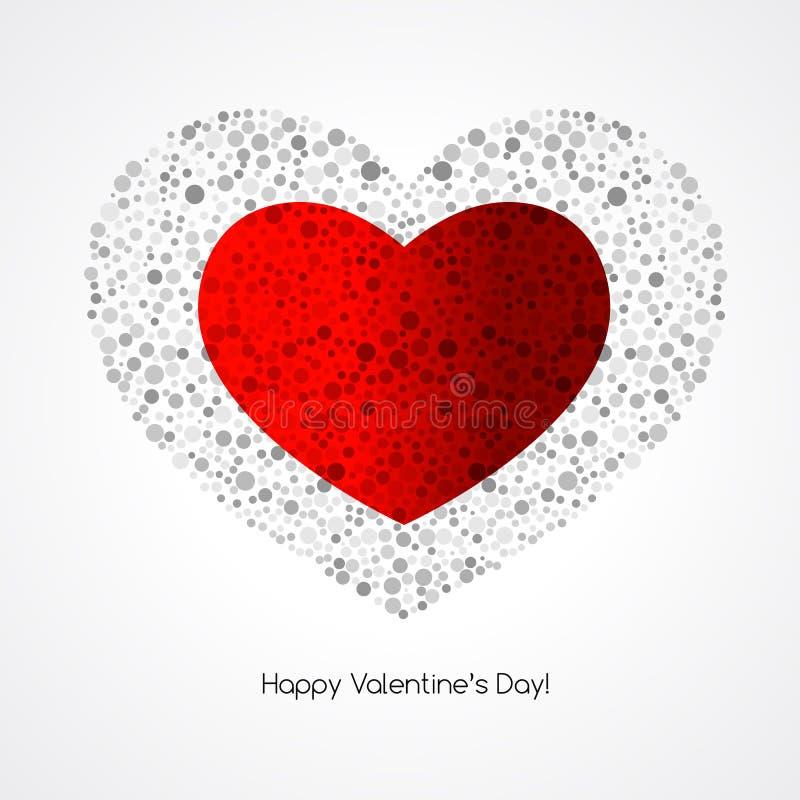 Os Valentim cardam com coração ilustração royalty free