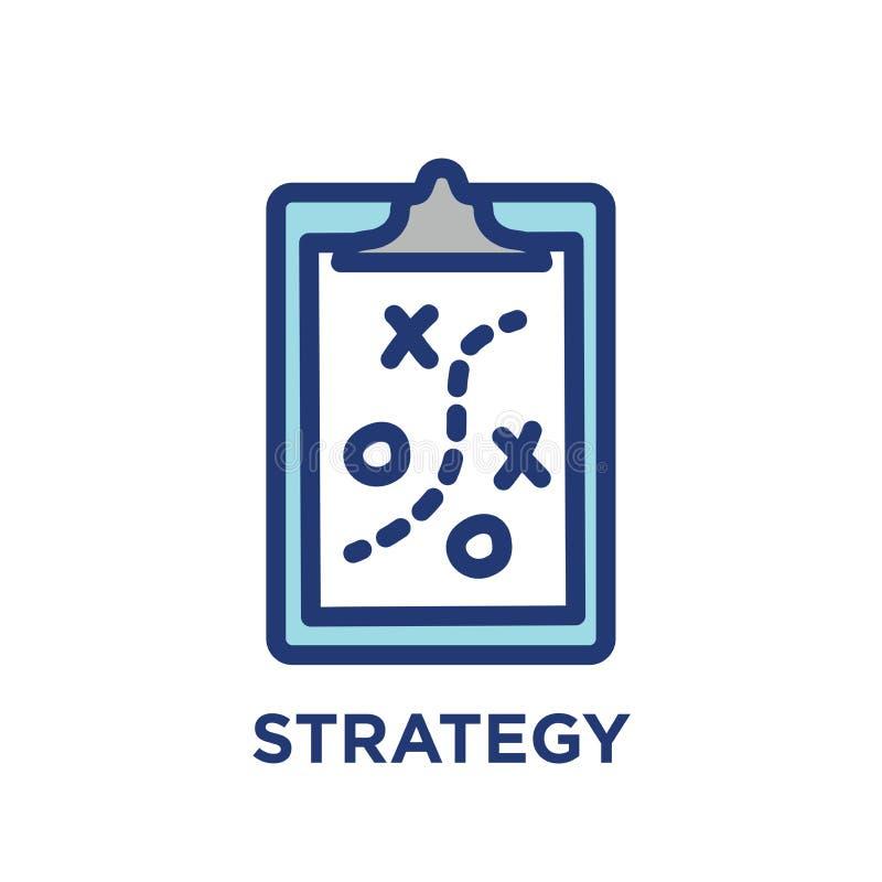 Os valores do núcleo esboçam - a linha ícone que transporta a finalidade específica ilustração stock