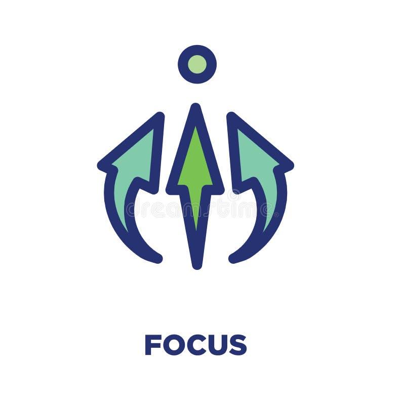 Os valores do núcleo esboçam/linhas ícone que transporta uma finalidade específica ilustração stock