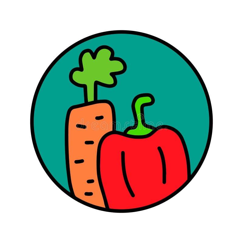 Os vegetais entregam o logotipo tirado do logotype para as camisas dos cartazes t das c?pias que marcam o vegetariano que da barr ilustração royalty free