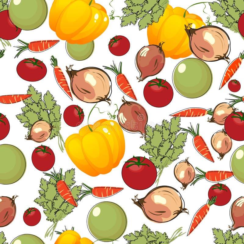 Os vegetais modelam no branco ilustração do vetor