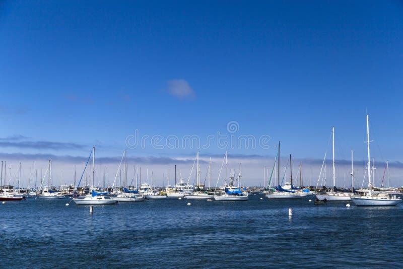 Download Os Veleiros Amarrados E Ancorados No Monterey Latem, Califórnia, EUA Imagem Editorial - Imagem de oceano, marinha: 65576430