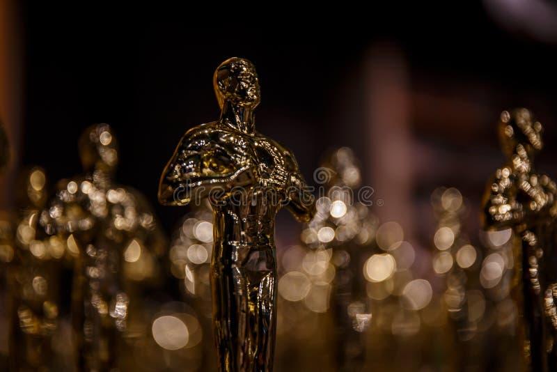 Os vencedores de Oscar foram anunciados! fotografia de stock