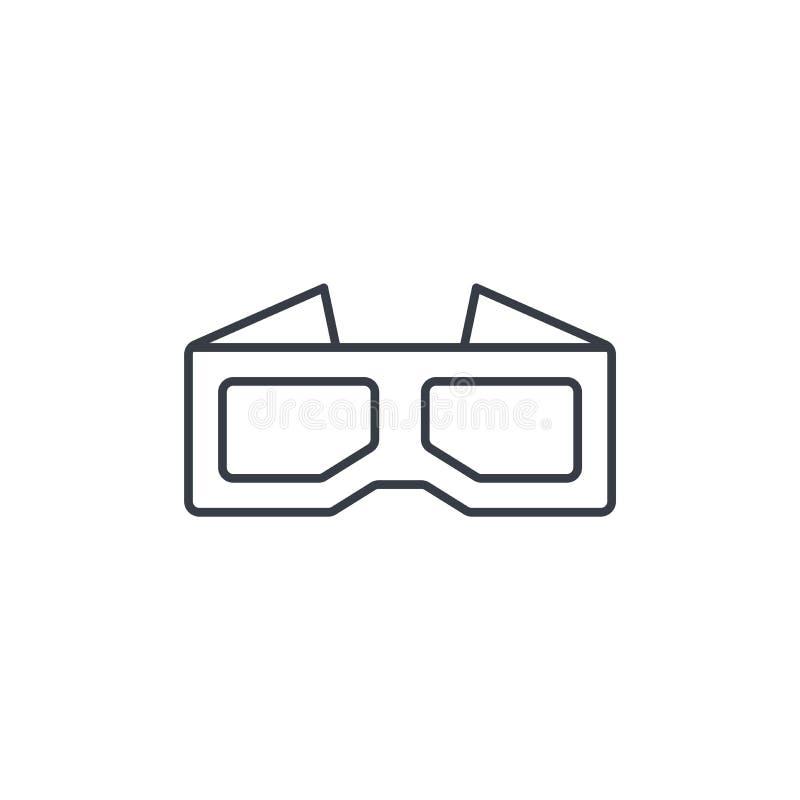 Os vidros para o filme diluem a linha ícone Símbolo linear do vetor ilustração royalty free