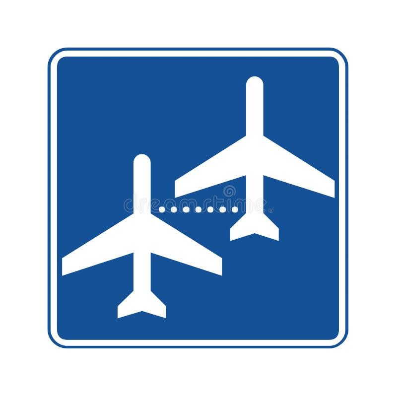 Os voos de conexão assinam ilustração royalty free