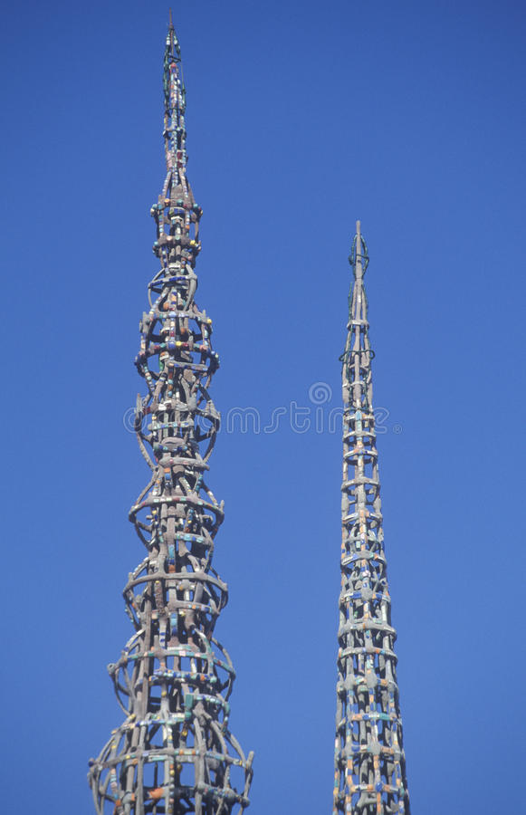 Os watts elevam-se 20o aniversário dos 1965 motins, Los Angeles, Califórnia imagens de stock