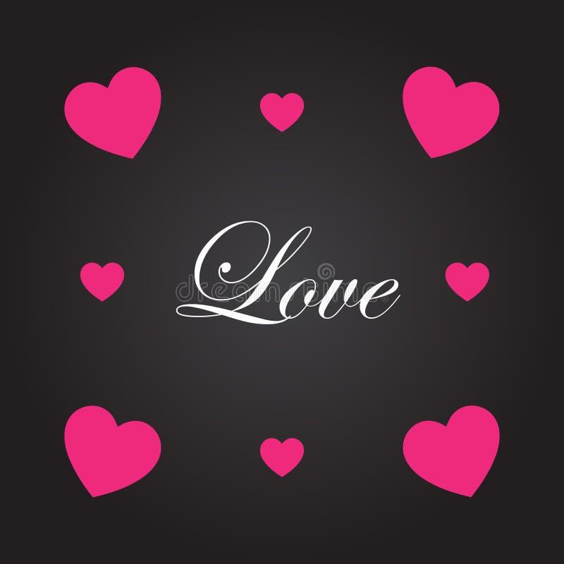 Osaczający serce z listem miłosnym również zwrócić corel ilustracji wektora royalty ilustracja