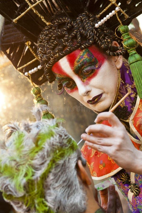 Osadia artist at work. royalty free stock photography