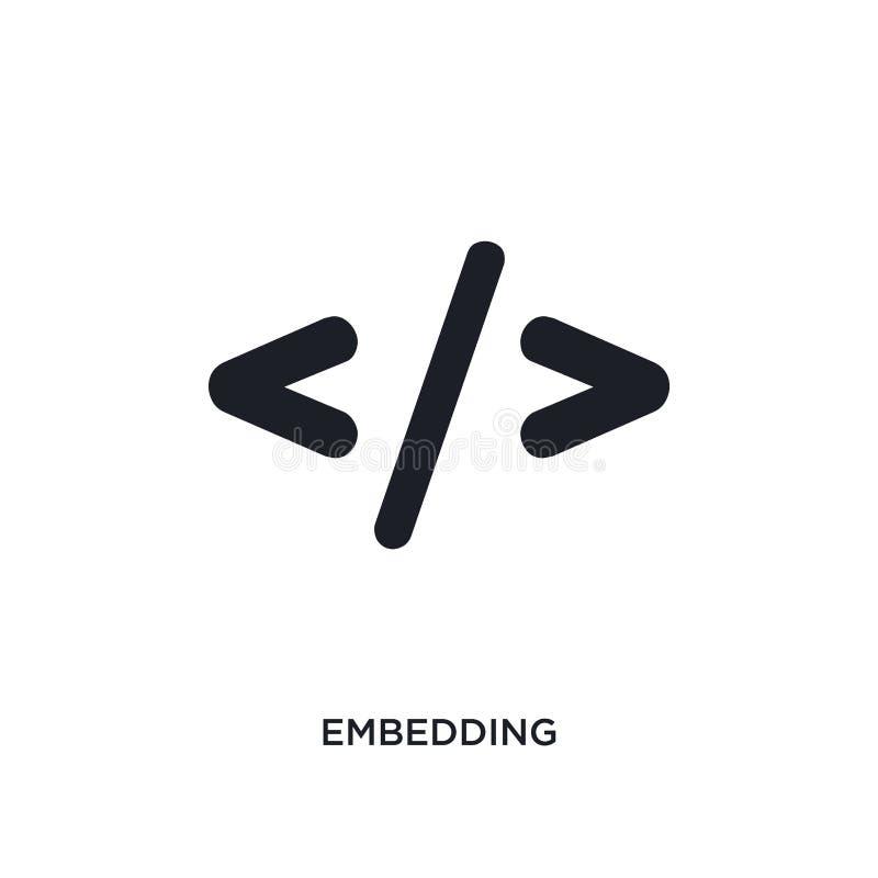 osadzać odosobnioną ikonę prosta element ilustracja od technologii pojęcia ikon osadzający editable logo znaka symbolu projekt da royalty ilustracja