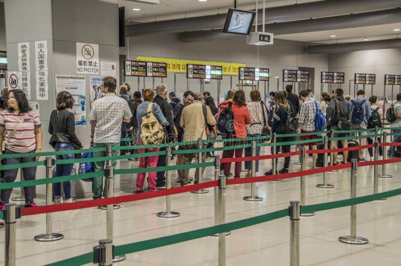 Osaka Airport Visa Counter fotografia de stock royalty free