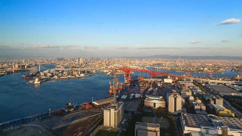 Osaka Bay royalty-vrije stock afbeelding