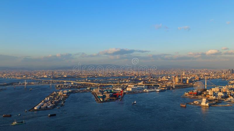 Osaka Bay royalty-vrije stock afbeeldingen