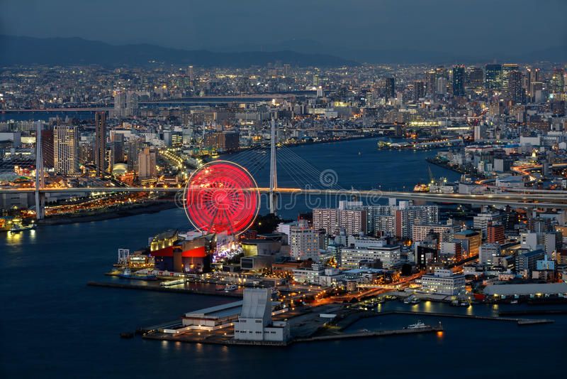 Osaka Bay royalty-vrije stock fotografie