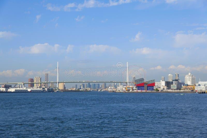 Osaka Bay dans le matin photographie stock