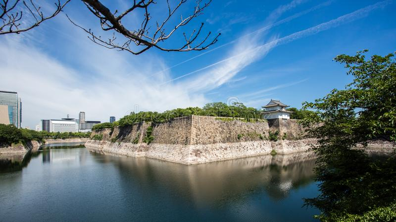 Osaka Castle è un castello giapponese in Ch??-ku, Osaka, Giappone Th fotografie stock