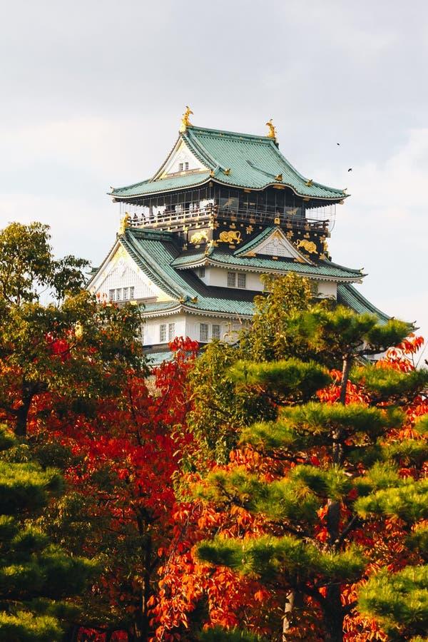 """Osaka Castle é uma estação japonesa do outono do castelo  Å em ChÅ de """"- ku, ósmio fotografia de stock"""