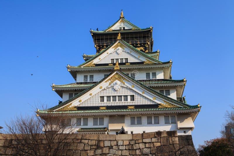 Osaka Castle. And blue sky in Osaka, Japan royalty free stock images