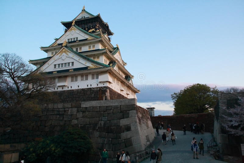 Osaka Castle royaltyfri fotografi